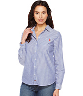 U.S. POLO ASSN. - Long Sleeve Striped Poplin Woven Shirt