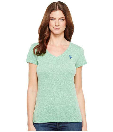 U S Polo Assn V Neck T Shirt Giant Fern