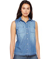 U.S. POLO ASSN. - Sleeveless Lightweight Denim Blouse