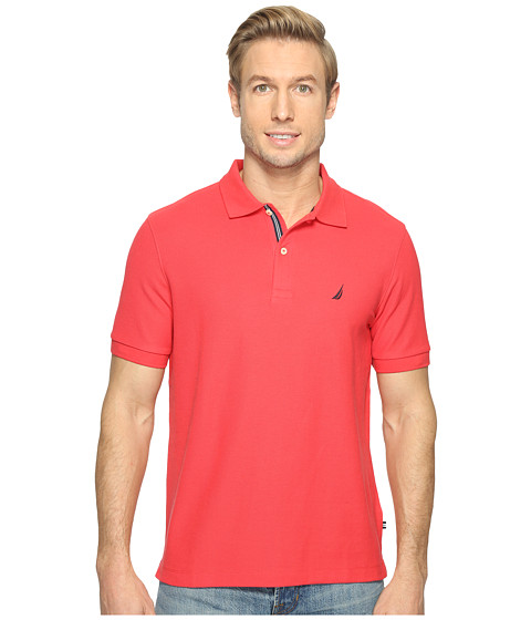 Nautica short sleeve solid deck shirt rose coral zappos for Coral shirts for guys