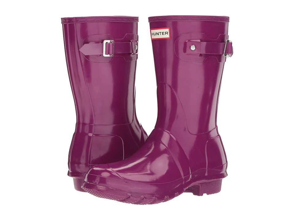 Hunter - Original Short Gloss Rain Boots (Violet) Womens Rain Boots
