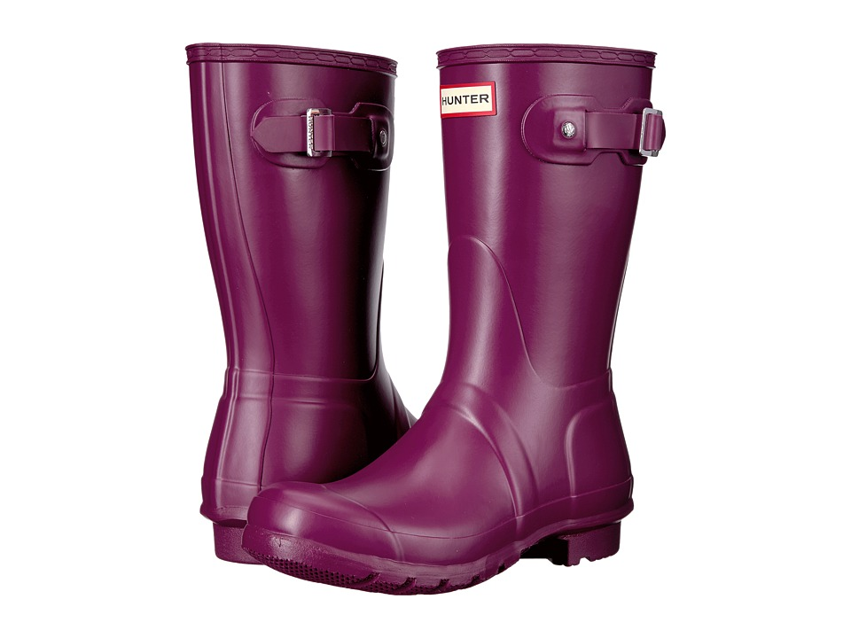 Hunter - Original Short Rain Boots (Violet) Womens Rain Boots