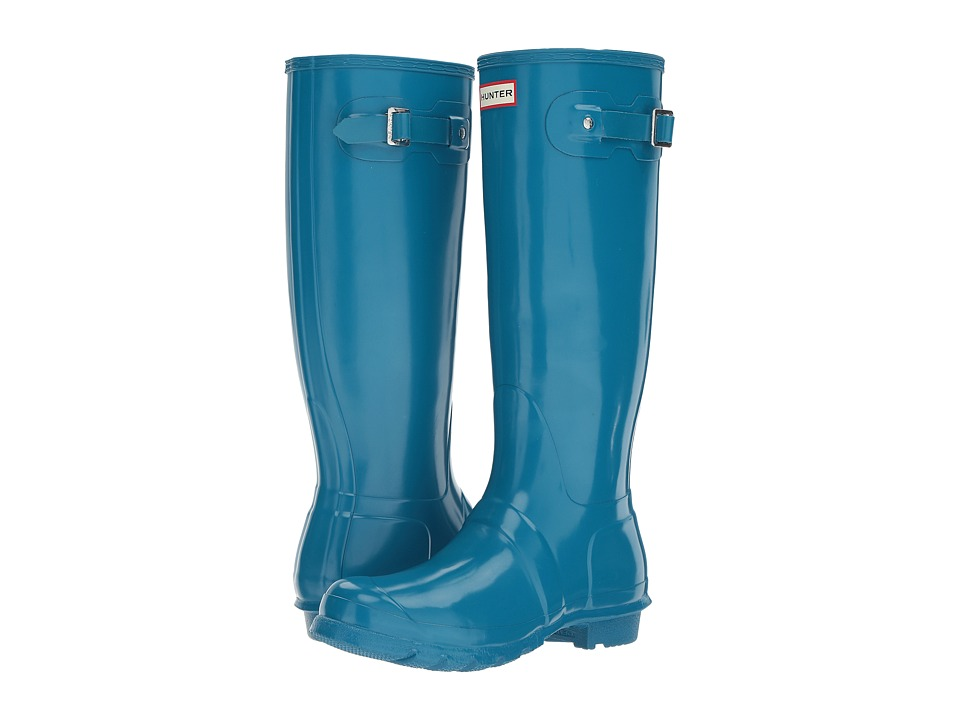 Hunter Original Tall Gloss (Ocean Blue) Women