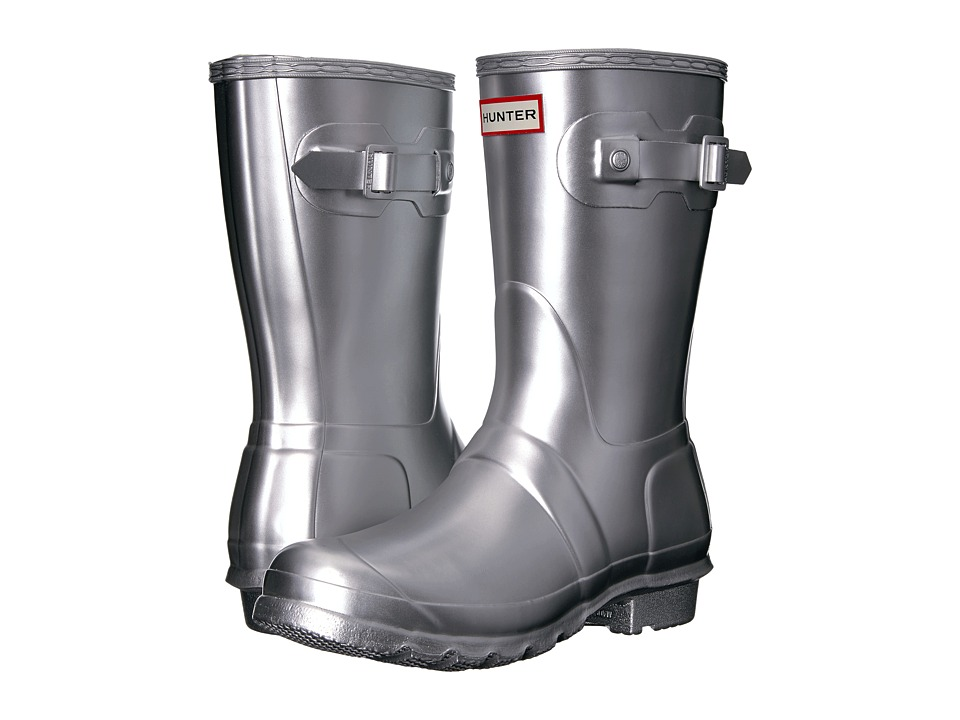 Hunter Original Short Rain Boots (Silver) Women