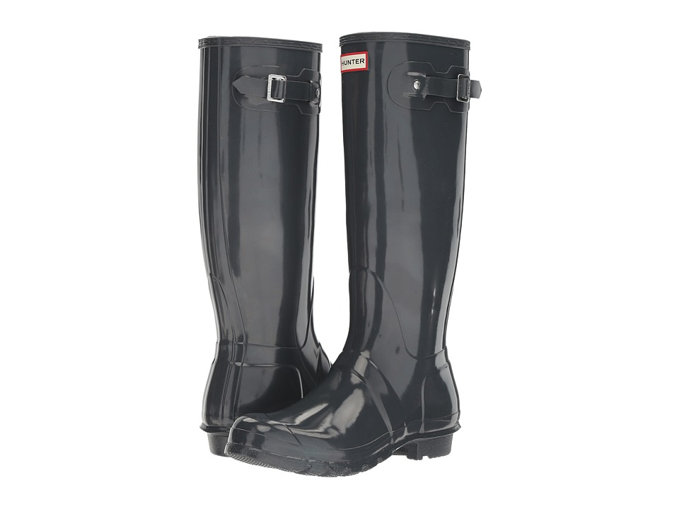 Hunter Original Tall Gloss (Dark Slate) Women