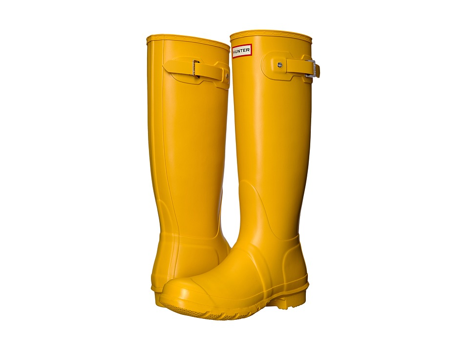 Hunter Original Tall Rain Boots (Yellow) Women