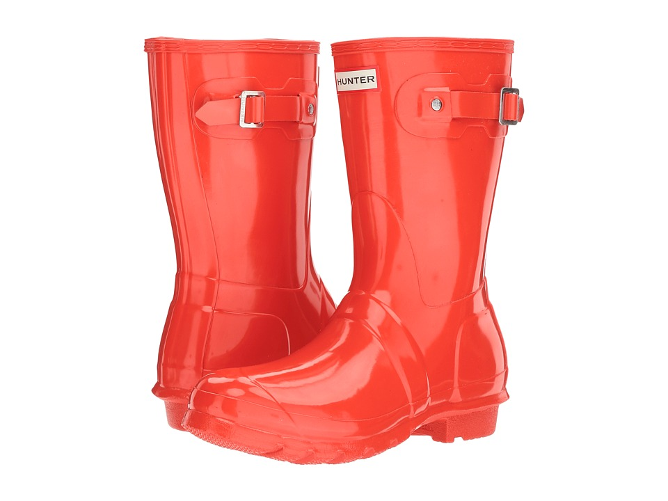 Hunter Original Short Gloss Rain Boots (Orange) Women