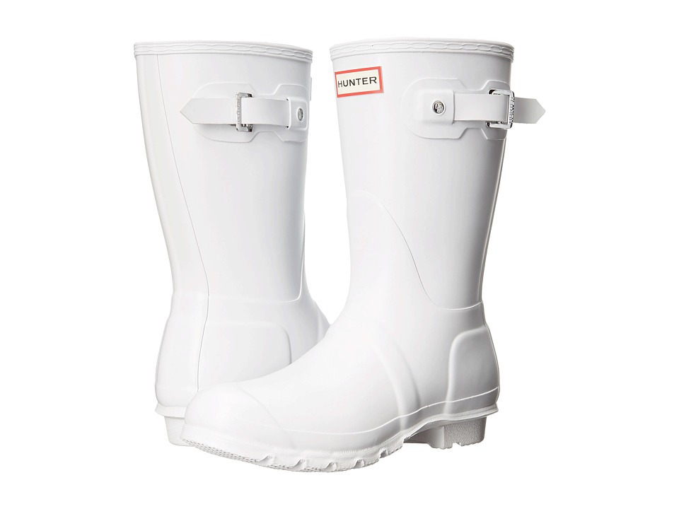 Hunter Original Short Rain Boots (White 1) Women