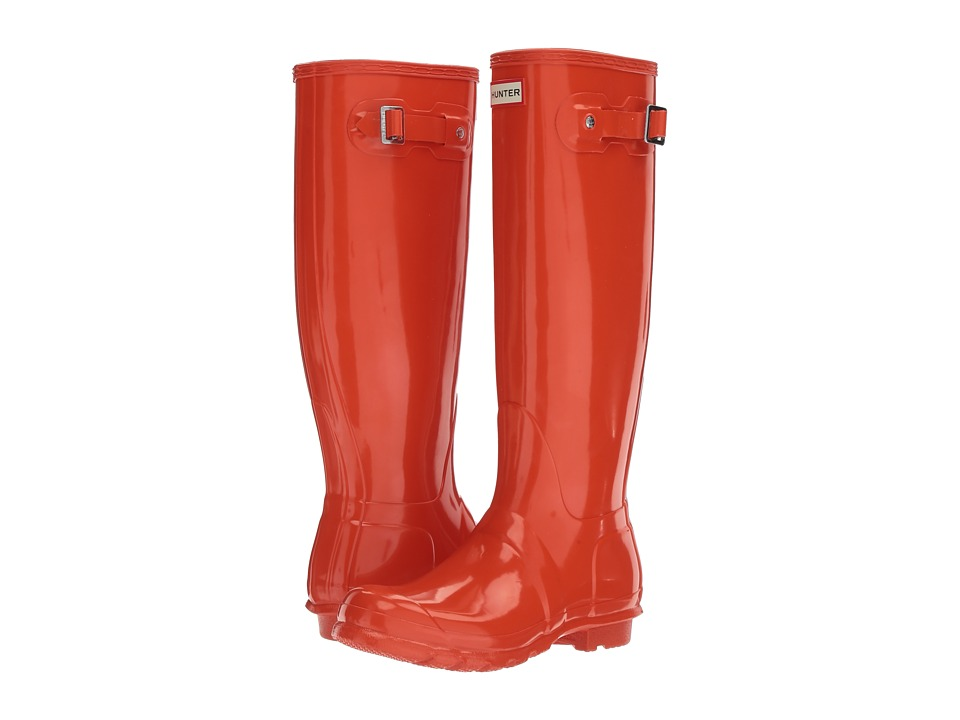 Hunter Original Tall Gloss (Orange) Women