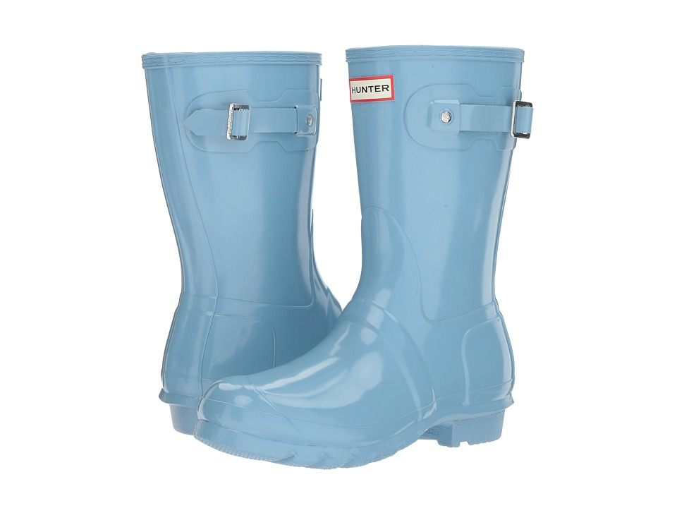 Hunter Original Short Gloss Rain Boots (Pale Blue) Women