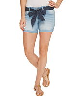 U.S. POLO ASSN. - Belted Stretch Denim Five-Pocket Shorts