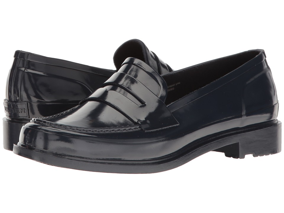 Hunter - Original Penny Loafers (Navy) Womens Shoes