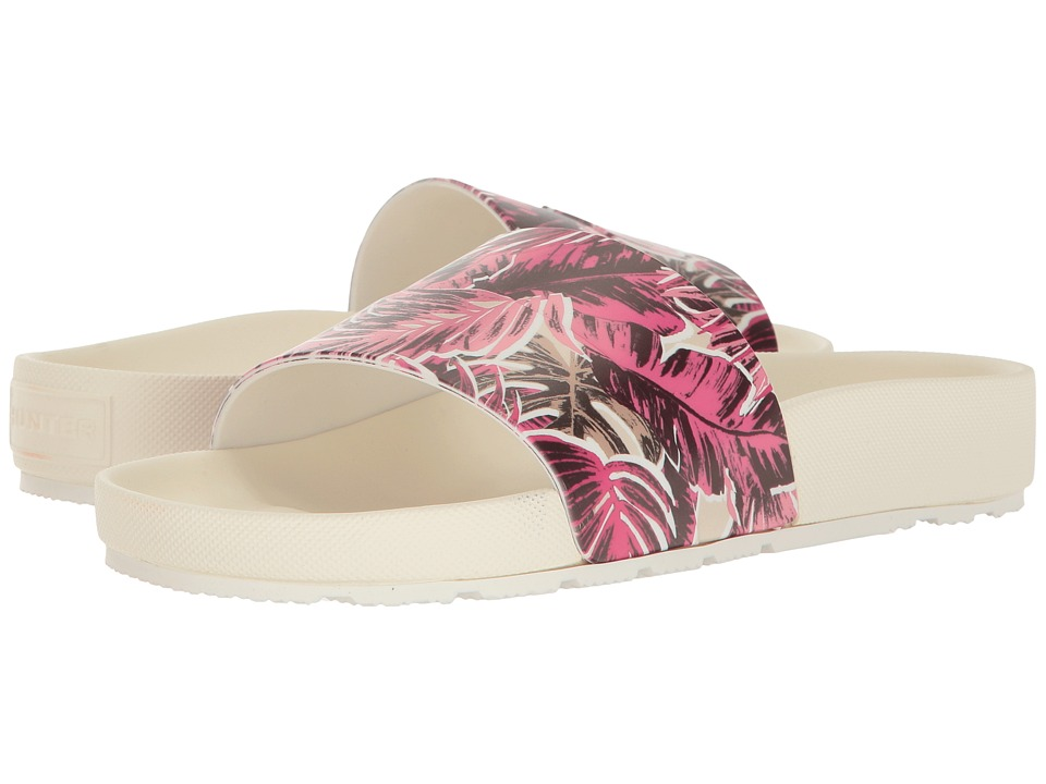 Hunter Original Jungle Print Slide (White) Women