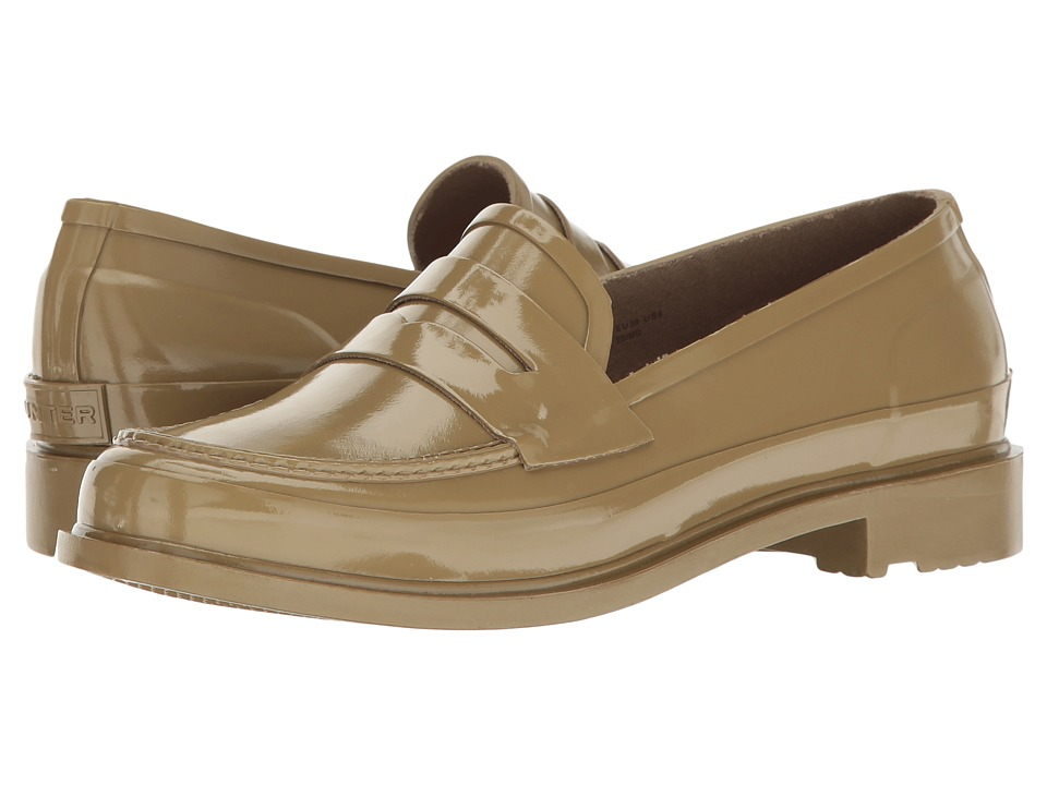 Hunter Original Penny Loafers (Pale Sand) Women's Shoes