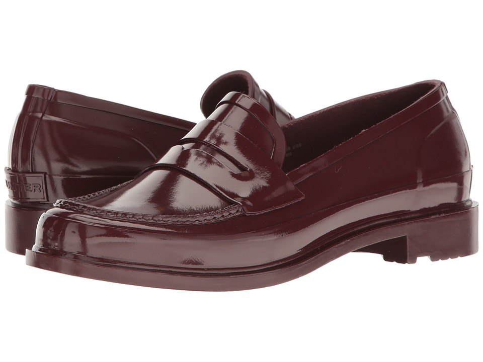 Hunter Original Penny Loafers (Dulse) Women's Shoes