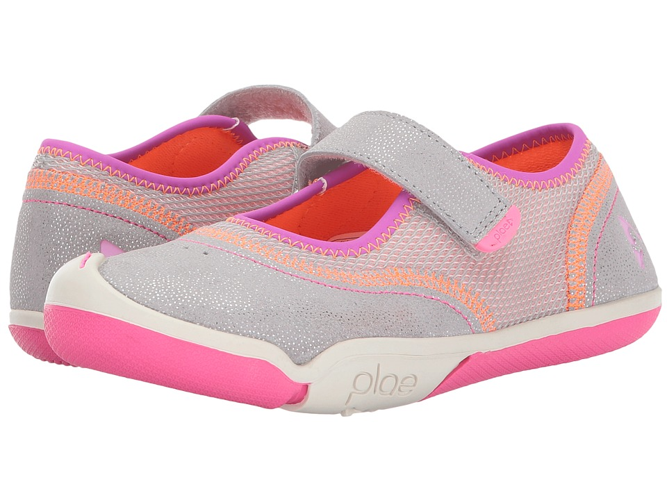 PLAE Emme (Little Kid) (Silver/Pink) Girl's Shoes