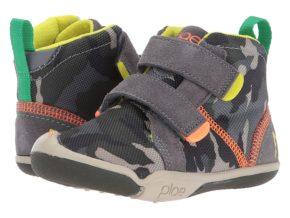 PLAE Max (Toddler/Little Kid) (Steel/Camo) Boy's Shoes