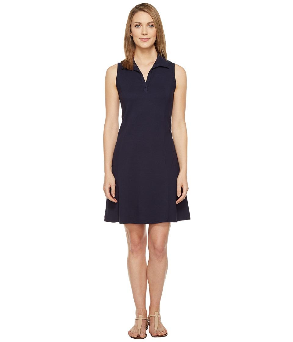 Three Dots Sleeveless Polo Dress (Night Iris) Women