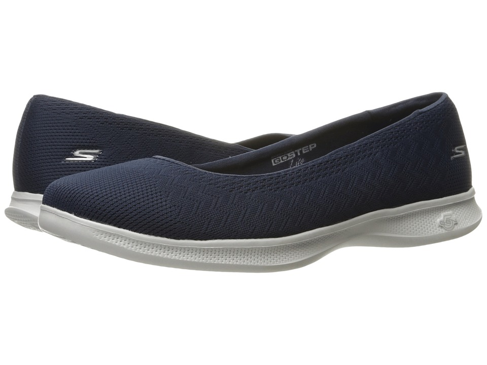 SKECHERS Performance Go Step Lite Solace (Navy/Gray) Women