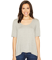 Three Dots - 1/2 Sleeve Relaxed High-Low Tee