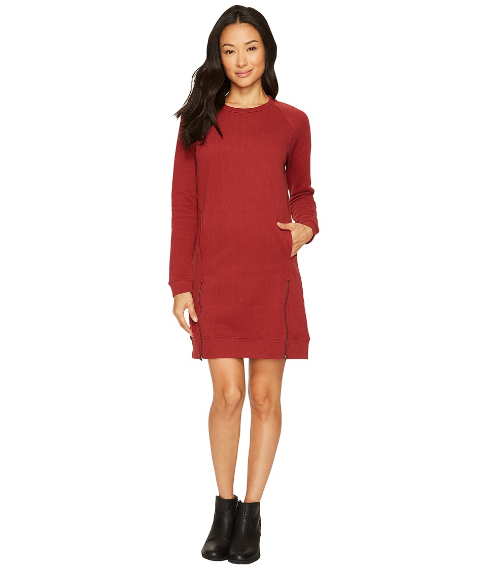 United By Blue Lundy Fleece Dress (Maroon) Women