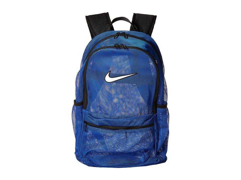 Nike Brasilia Mesh Backpack (Game Royal/Black/White) Backpack Bags