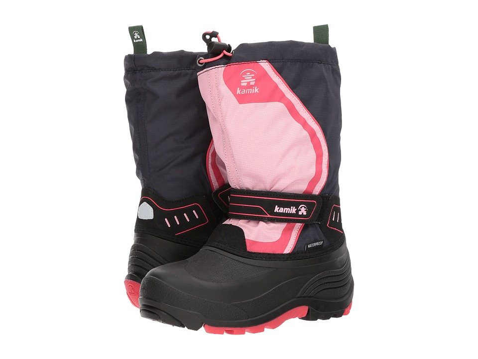 Kamik Kids - Snowcoast3 (Toddler/Little Kid/Big Kid) (Navy/Pink) Girls Shoes