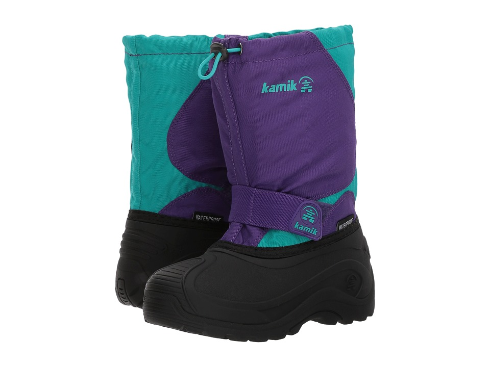 Kamik Kids Snowfoxwp (Toddler/Little Kid/Big Kid) (Purple/Teal) Girl's Shoes