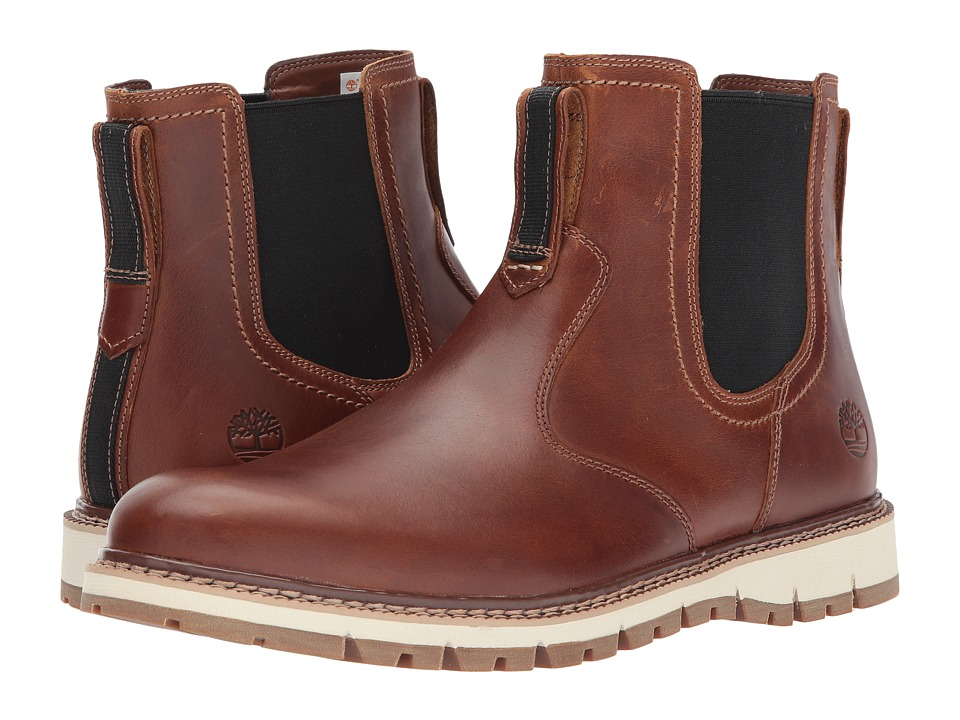 Timberland - Britton Hill Chelsea (Medium Brown Full Grain) Mens Boots