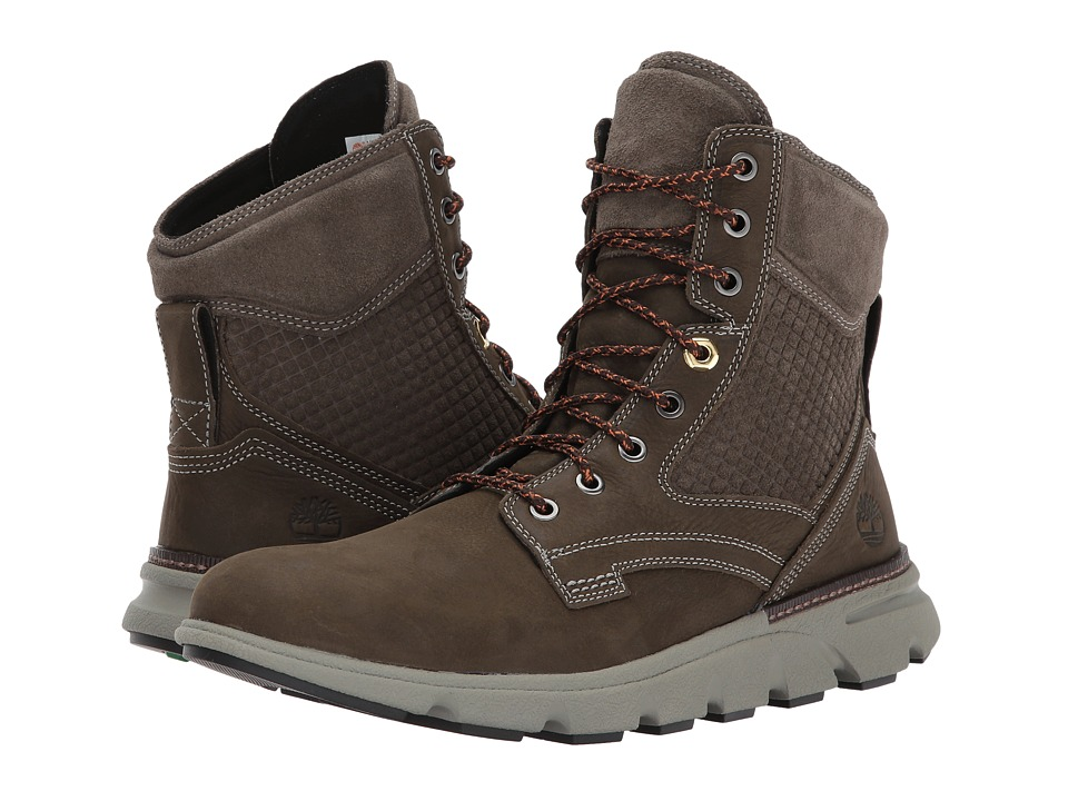 Timberland Eagle Bay Leather Boot (Olive Nubuck) Men