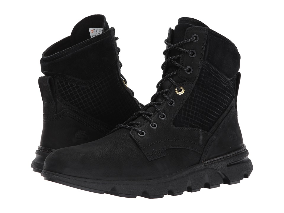 Timberland Eagle Bay Leather Boot (Black Nubuck) Men