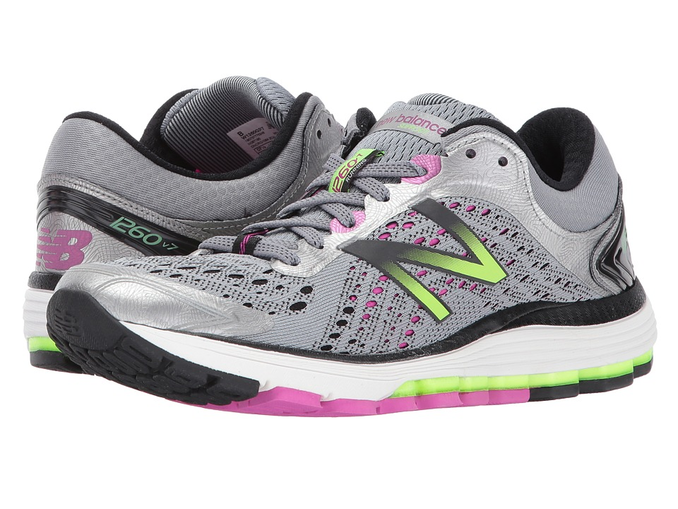 New Balance 1260 V7 (Steel/Poisonberry) Women's Running S...
