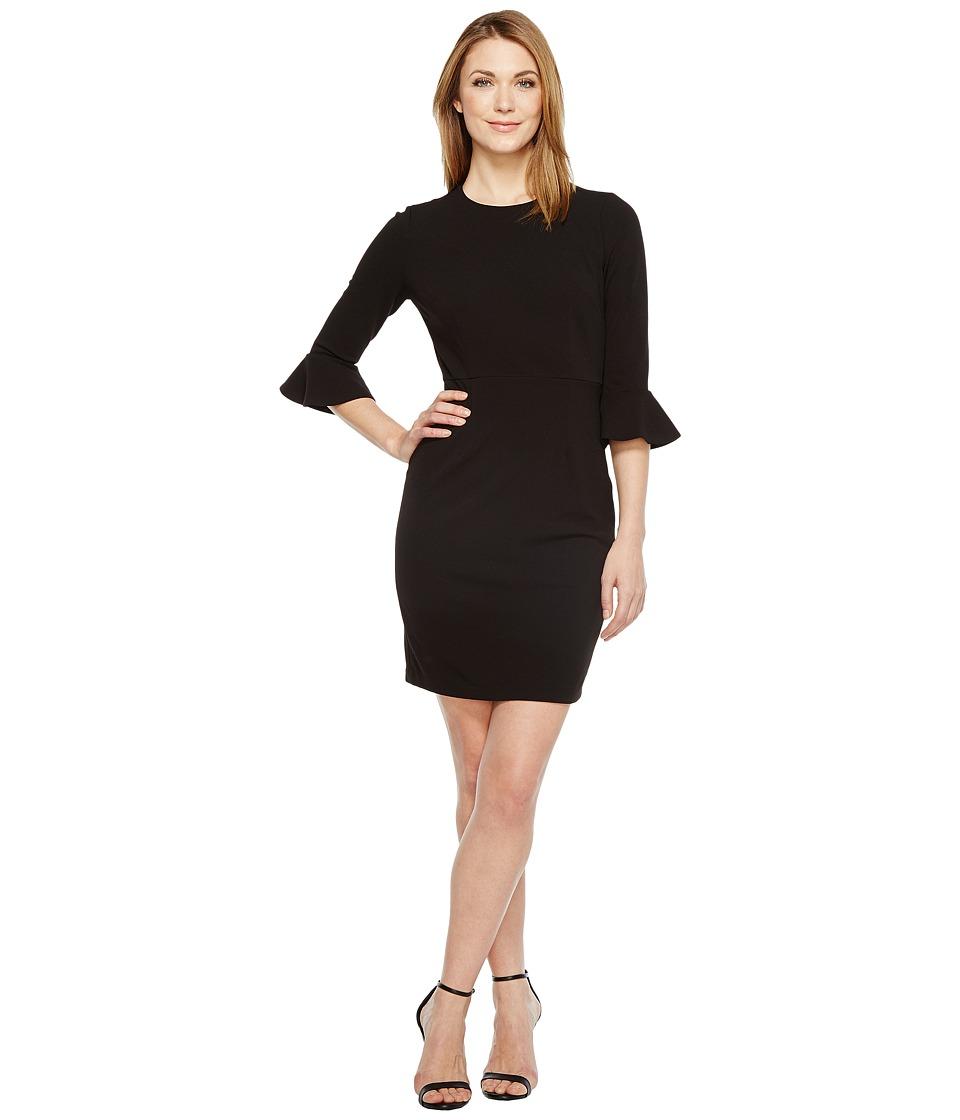 Donna Morgan 3/4 Bell Sleeve Sheath Dress (Black) Women