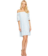 Donna Morgan - Off the Shoulder Short Sleeve Knit Lace Shift Dress