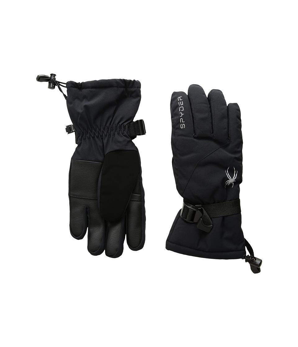 Spyder Essential Ski Gloves (Black/Silver) Ski Gloves