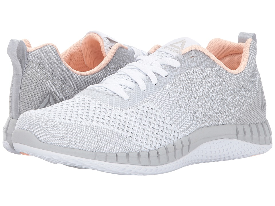 Reebok Print Run Prime ULTK (White/Skull Grey/Peach Twist/Steel) Women