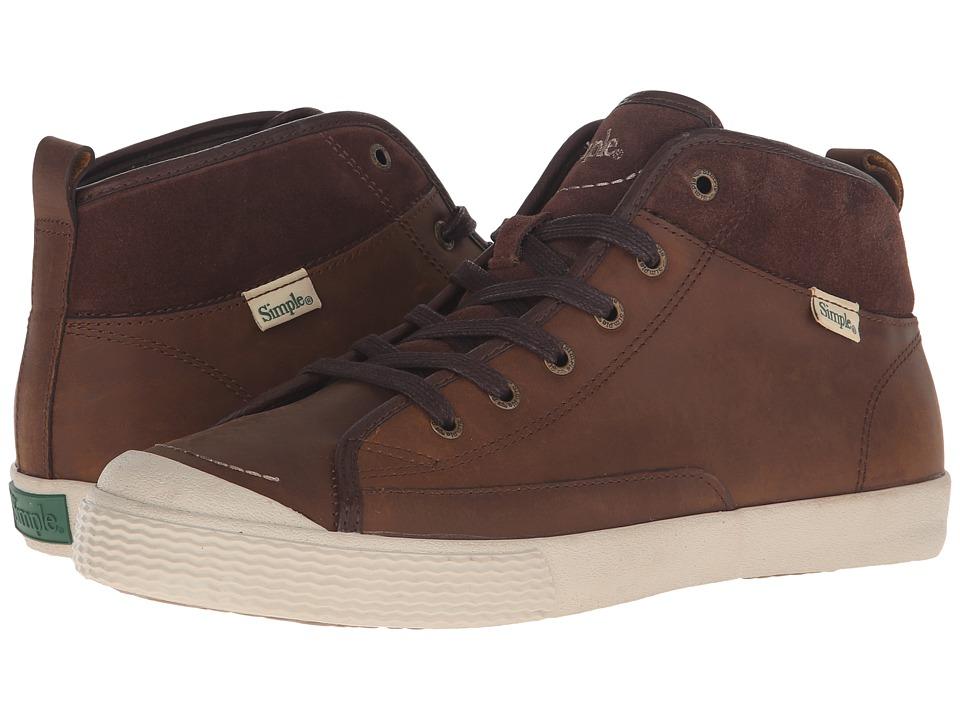 Simple Waltham (Dark Tan Leather) Men