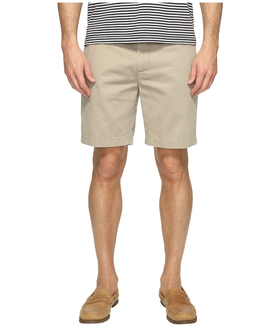 Nautica Anchor Twill Flat Front Shorts (True Khaki) Men