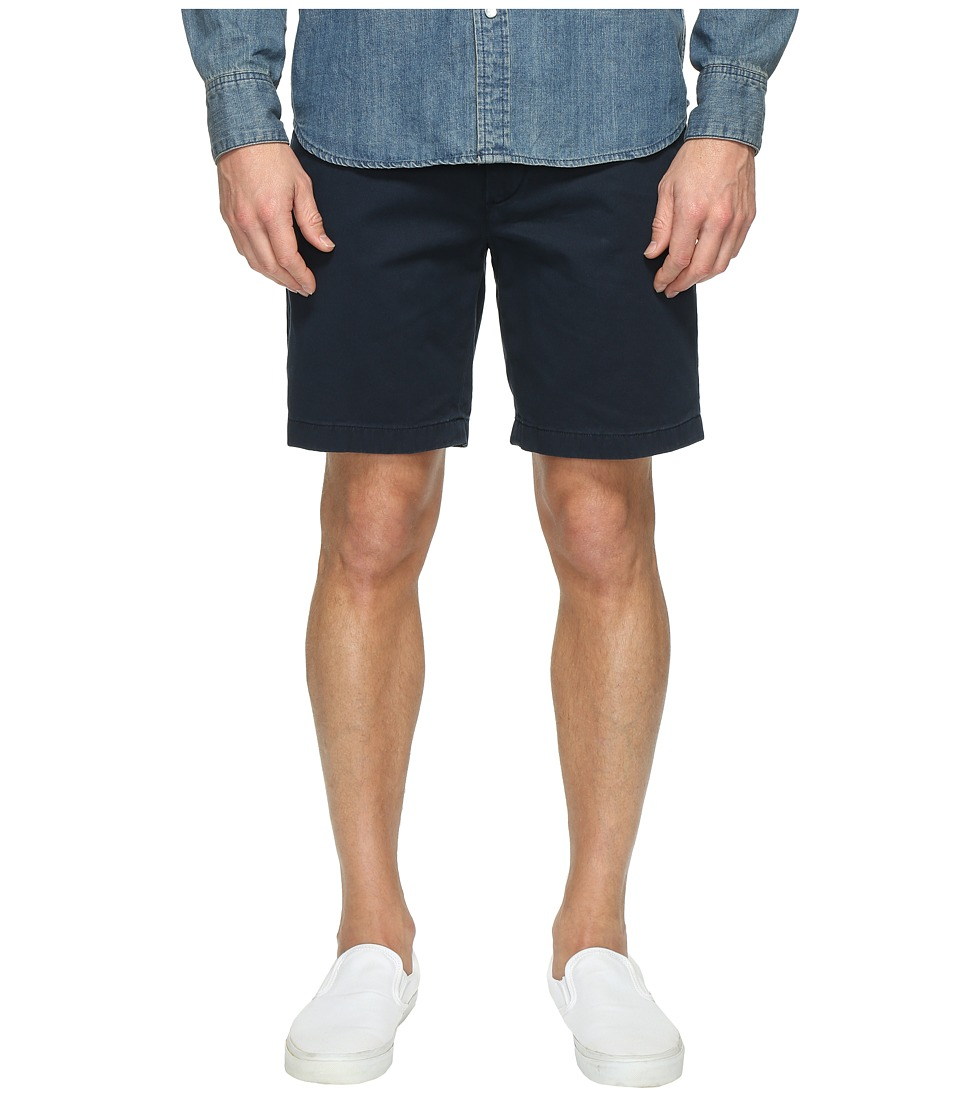 Nautica Anchor Twill Flat Front Shorts (True Navy) Men