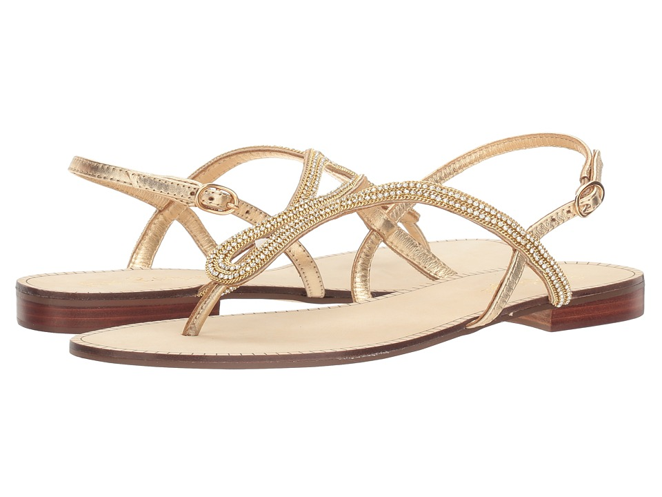 Lilly Pulitzer - Delray Sandal (Gold Metallic) Women's Sandals