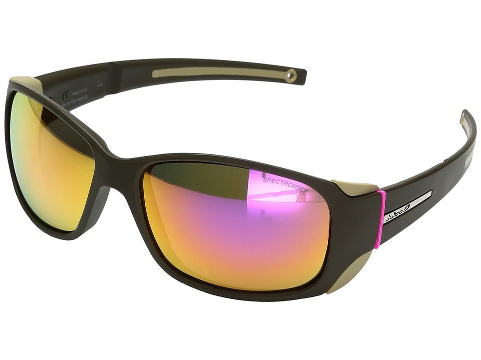 Image of Julbo Eyewear - Monterosa Sunglasses (Army/Pink) Athletic Performance Sport Sunglasses