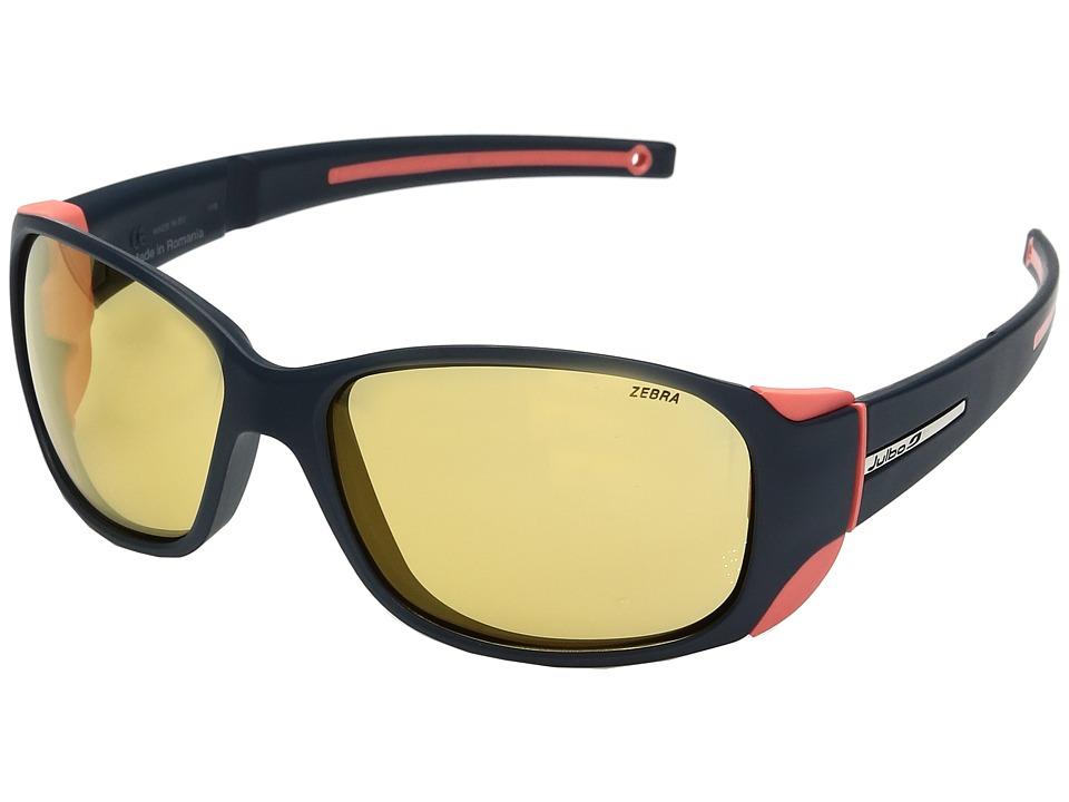 Image of Julbo Eyewear - Monterosa Sunglasses (Dark Blue/Coral) Athletic Performance Sport Sunglasses