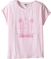 Karl Lagerfeld Kids - Short Sleeve Melange Jersey Tee w/ Miami Print (Big Kids)