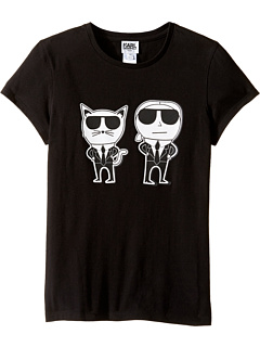 Karl Lagerfeld Kids - Short Sleeve Mini Me with Front/Back Print (Big Kids)