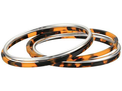 LAUREN Ralph Lauren 5 Bangle Set Bracelet - Silver/Tortoise