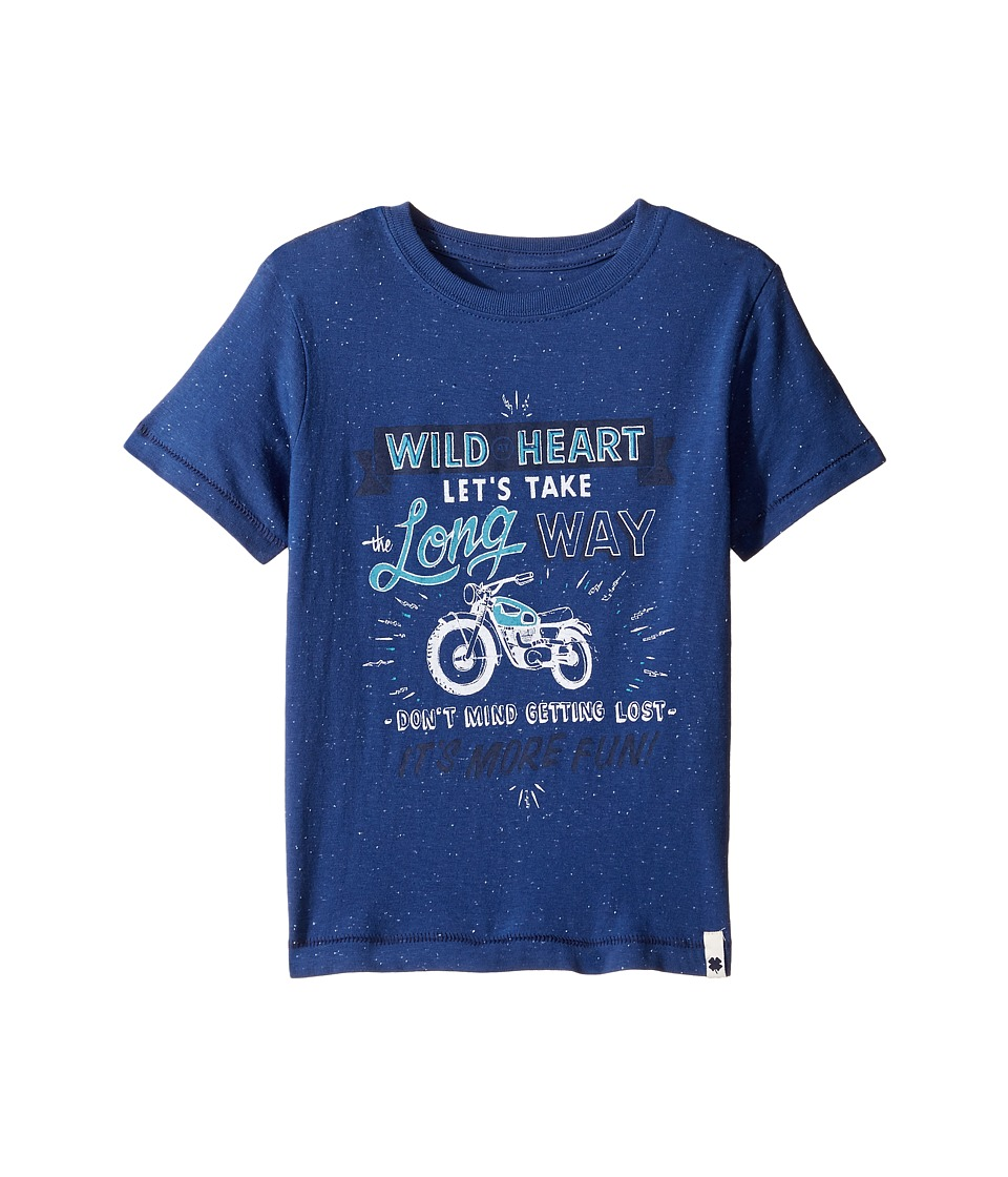Lucky Brand Kids Long Way Tee w/ Short Sleeves (Little Kids/Big Kids) (New Blue) Boy