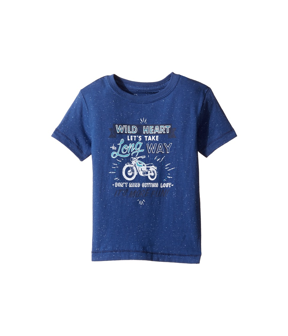 Lucky Brand Kids Long Way Tee w/ Short Sleeves (Toddler) (New Blue) Boy