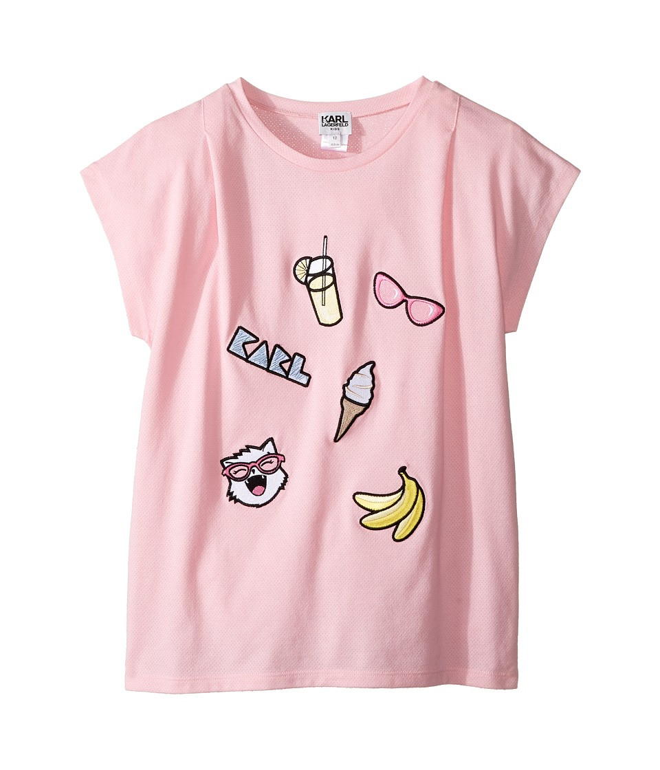 Karl Lagerfeld Kids - Short Sleeve Tee w/ Embroidered Patches