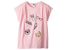 Karl Lagerfeld Kids - Short Sleeve Tee w/ Embroidered Patches (Big Kids)