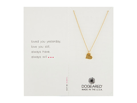 Dogeared Loved You Yesterday Necklace - Gold Dipped